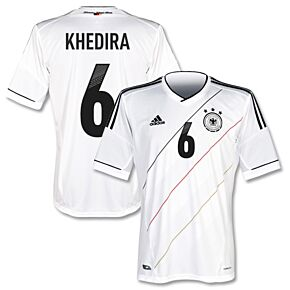 adidas Germany Home Jersey + Khedira 6 + Poland - Ukraine 2012 Print 2012-2013