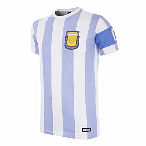 Copa Argentina Capitano Tee - White/Sky