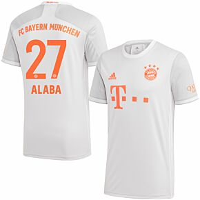 20-21 Bayern Munich Away Shirt + Alaba 27 (Official Printing)