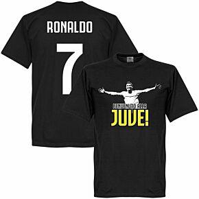 Welcome to Juve KIDS Ronaldo Tee - Black