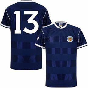 1986 Scotland Home Retro Shirt + No. 13 (Retro Flock Printing)