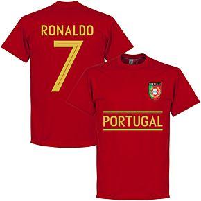 Portugal Ronaldo 7 Team Tee - Red