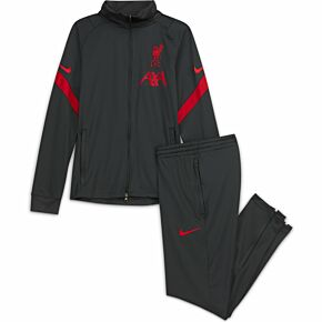 20-21 Liverpool Dry Strike Tracksuit - Grey - Kids