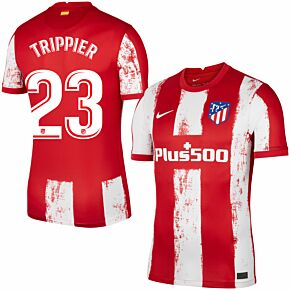 21-22 Atletico Madrid Home Shirt + Trippier 23 (Official Printing)