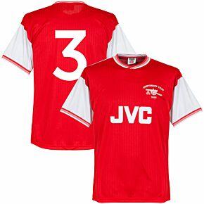 1985 Arsenal Home Centenary Retro Shirt + No. 3