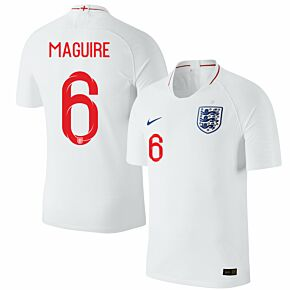 England Home Maguire 6 Jersey 2018 / 2019 (Official Printing)