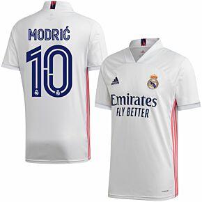 20-21 Real Madrid Home Shirt + Modric 10 (Official Club Printing)
