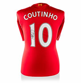Philippe Coutinho Signed Liverpool Home 14-15 Shirt