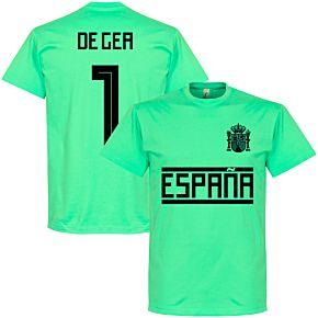 Spain De Gea 1 Team Tee - Caribbean Blue