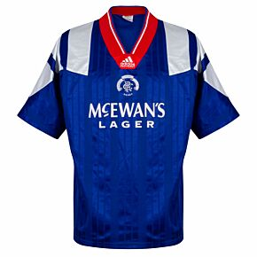 adidas Rangers 1992-1994 Home Shirt - USED Condition (Great) - Size XL
