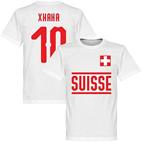 Switzerland Xhaka 10 Team Tee - White