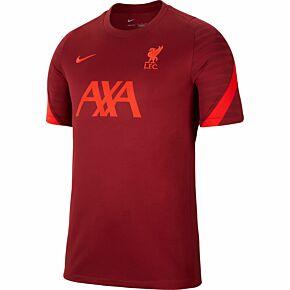 21-22 Liverpool Dri-Fit Strike Training Shirt - Red