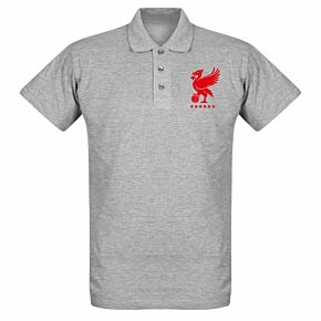 Liverpool Crest Polo Shirt - - Grey Marl