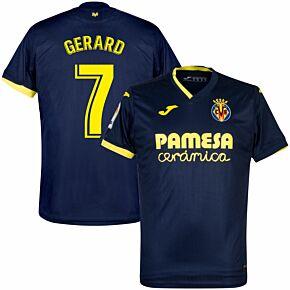 20-21 Villarreal Away Shirt + Gerard 7 (Fan Style)