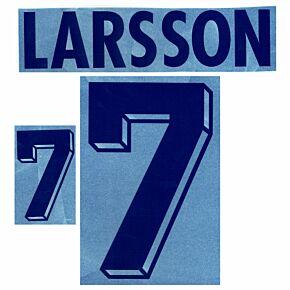 Larsson 7 - 94-95 Sweden Home Retro Flock Printing