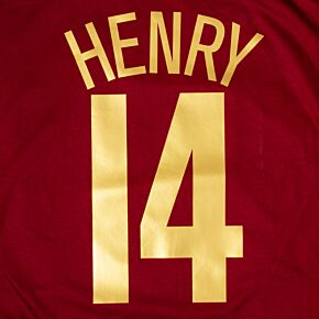 Henry 14 (C/L Style) - Highbury Commemorative Name and Number - Gold Flex