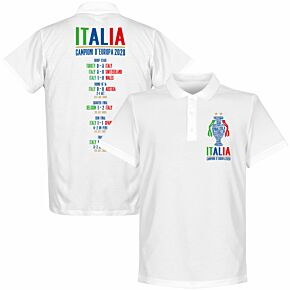Italia Champions of Europe 2020 Road to Victory Polo Shirt - White