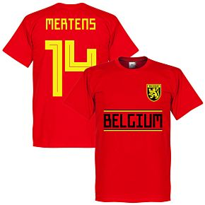 Belgium Mertens 14 Team Tee - Red