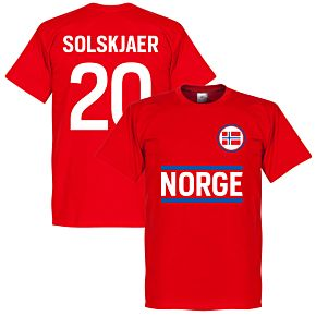 Norway Solskjaer 20 KIDS Team Tee - Red