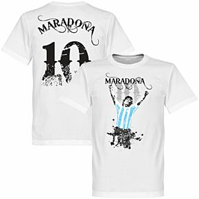 Maradona 10 Tee - White