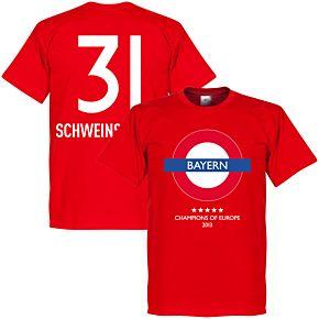 Bayern Underground Tee + Schweinsteiger 31 - Red