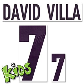 David Villa 7 - 12-13 Spain Away Kids