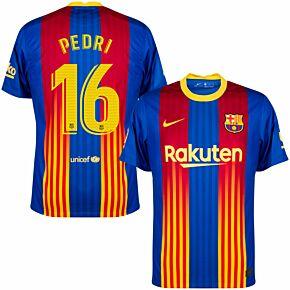 20-21 Barcelona 4th Shirt + Pedri 16 (Match Pro Printing)