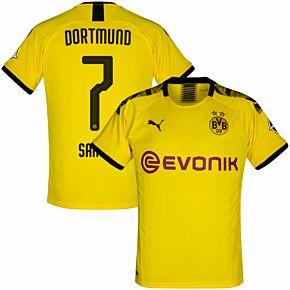 Puma Borussia Dortmund Home Sancho 7 Jersey 2019-2020 (Official Printing)