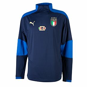 2021 Italy 1/4 Zip L/S Drill Training Top + Euro 2020 Final Transfer