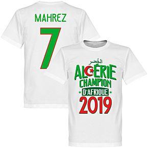 Algeria Champions of Africa Mahrez 7 Tee - White