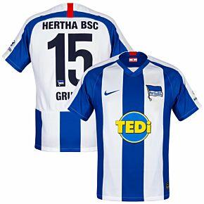 Nike Hertha Berlin Home Grujic 15 Jersey 2019-2020 (Official Printing)