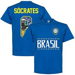 Brazil Socrates 8 Gallery Team Tee - Royal