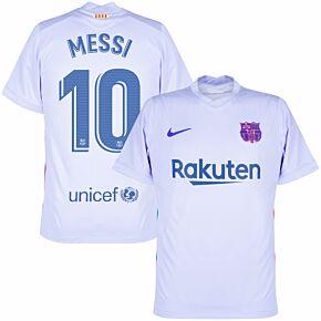 21-22 Barcelona Away Shirt + Messi 10 (Official Printing)