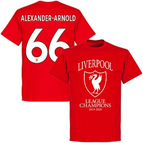 Liverpool 2020 League Champions Crest Alexander-Arnold 66 T-shirt - Red