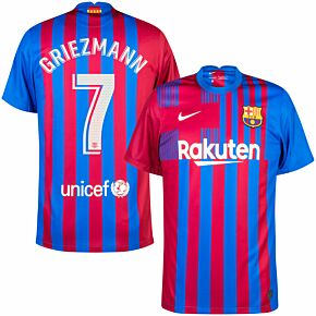 21-22 Barcelona Home Shirt + Griezmann 7 (Official Printing)
