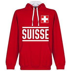 Switzerland Team Hoodie - Red
