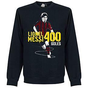 Messi 400 Goals Sweatshirt - Navy