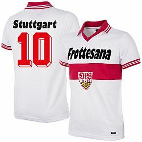 77-78 VFB Stuttgart Home Retro Shirt + No. 10 (Retro Flock Printing)