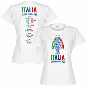 Italia Champions of Europe 2020 Road to Victory Women's T-shirt - White