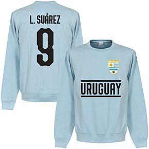 Uruguay Suarez 9 Team Sweatshirt - Sky