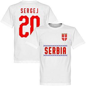 Serbia Sergej 20 Team Tee - White