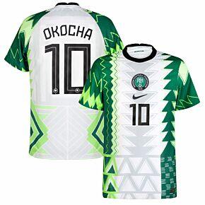 20-21 Nigeria Vapor Match Home Shirt + Okocha 10 (Official Printing)