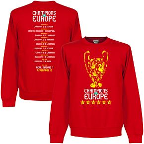 Liverpool Champions of Europe  Road to Victory Trophy  Sweatshirt - Red