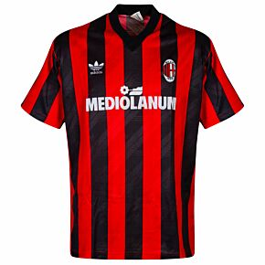 Adidas (SPORTPRO) AC MIlan 1990-1991 Fan Home Shirt S/S - USED Condition (Great) - Size XL