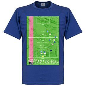 Pennarello Roberto Baggio 1990 Classic Goal Tee - Royal