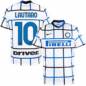 20-21 Inter Milan Away Shirt + Lautaro 10 (Official Printing)