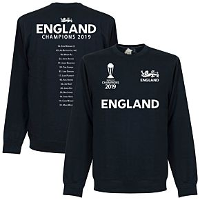England Cricket World Cup  Winners Squad  Sweatshirt - Navy