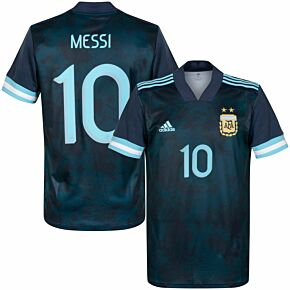0-21 Argentina Away Shirt + Messi 10 (Official Printing)