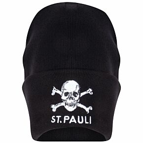 St Pauli Logo Cuff Knitted Hat - Black