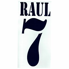 Raul 7 - 02-03 Real Madrid Home Flex Name and Number Transfer
